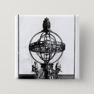 An Armillary Sphere of the Copernican System Pinback Button