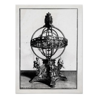 An Armillary Sphere of the Copernican System Poster