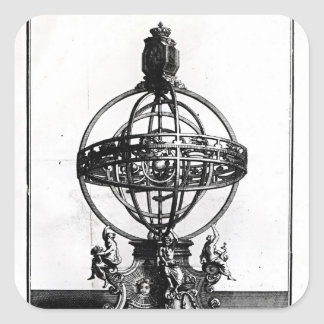 An Armillary Sphere of the Copernican System Square Sticker