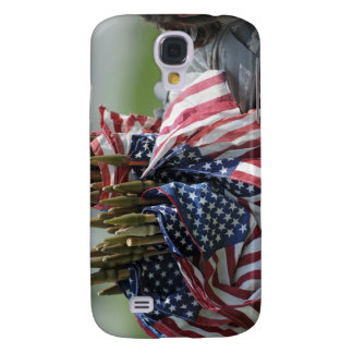 An Army soldier's backpack Galaxy S4 Case