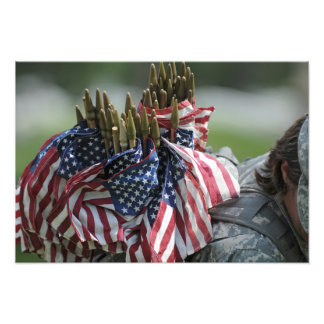 An Army soldier's backpack Photo Print