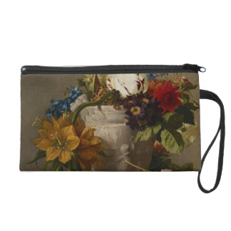 An Arrangement with Flowers, 19th century Wristlet Clutches