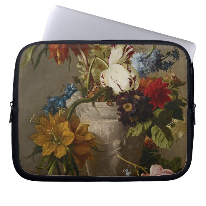 An Arrangement with Flowers, 19th century Laptop Sleeves