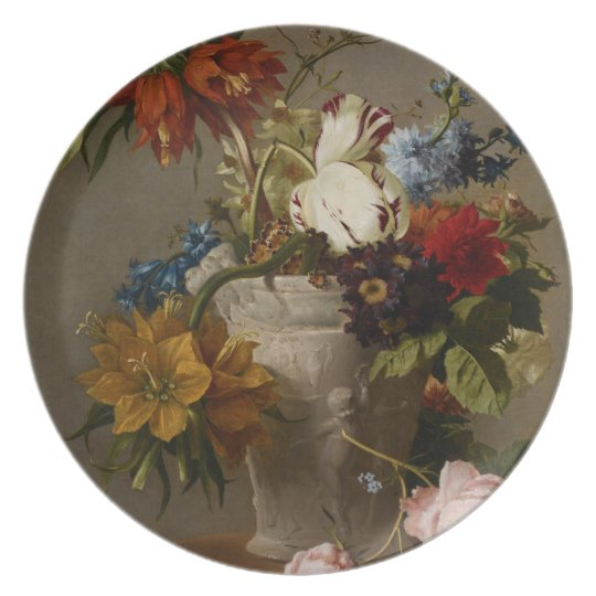 An Arrangement with Flowers, 19th century Plate