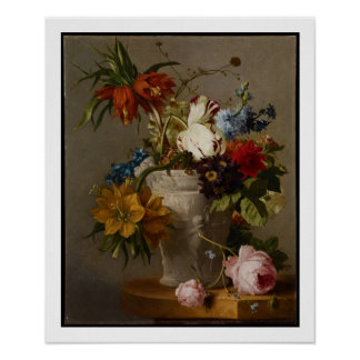 An Arrangement with Flowers, 19th century Poster