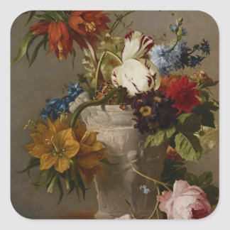 An Arrangement with Flowers, 19th century Stickers