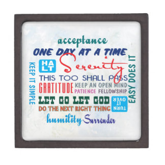 an array of  slogans jewelry box