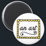"""An Art Magnet<br><div class=""""desc"""">Does someone you know have infuriatingly generic wall art hanging in their house? Let them know by giving them this button passive-aggressively.</div>"""