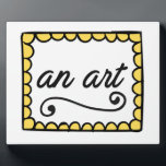 """An Art Plaque<br><div class=""""desc"""">Does someone you know have infuriatingly generic wall art hanging in their house? Let them know by giving them this passive-aggressively. Do you create an art for a living? Show it with ironic pride!</div>"""
