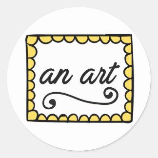 An Art Round Sticker