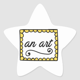 An Art Star Sticker