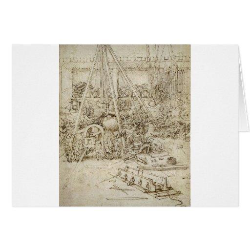An Artillery Park by Leonardo Da Vinci Greeting Card