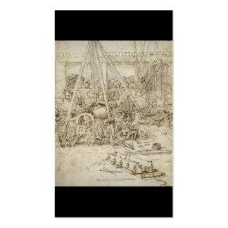 An Artillery Park (c. 1487) by Leonardo da Vinci Double-Sided Standard Business Cards (Pack Of 100)