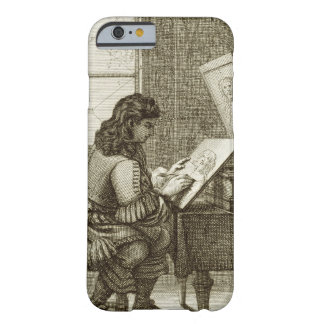 An artist copying onto an engraving plate, printed barely there iPhone 6 case