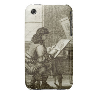 An artist copying onto an engraving plate, printed iPhone 3 case