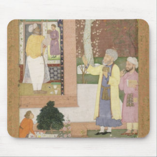 An artist decorating the interior of a garden pavi mouse pad