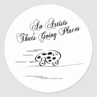 An Artist That s Going Places Stickers