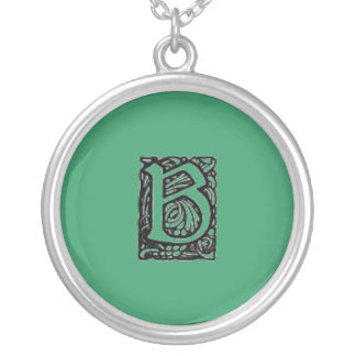 """An Artistic """"B"""" Monogrammed Necklace"""