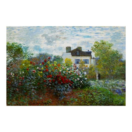 An Artist's Garden Poster (in many sizes) Posters