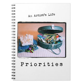 An Artist's Life: Priorities notebook