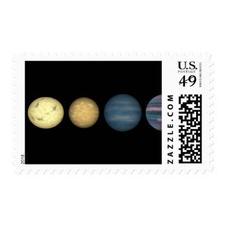 An artist's rendition comparing brown dwarfs 2 postage