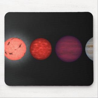 An artist's rendition comparing brown dwarfs mouse pad