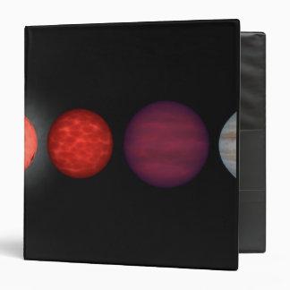 An artist's rendition comparing brown dwarfs vinyl binder
