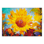 An Artsy Yellow Sunflower Greeting Card