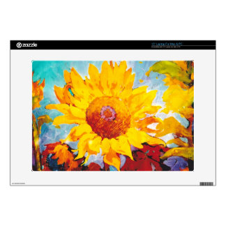 An Artsy Yellow Sunflower Laptop Decals