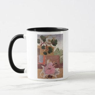 An ascetic on a tigerskin mug