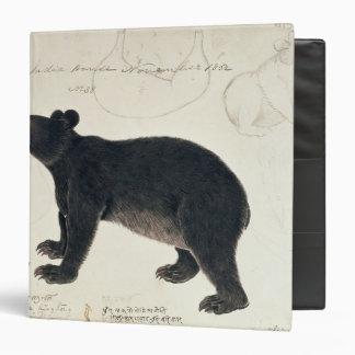 """An Asiatic Black Bear, """"Ursus Tibetanus"""" 3 Ring Binder"""
