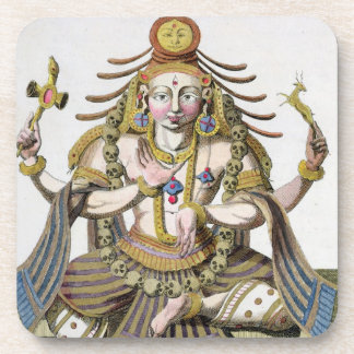 An aspect of Shiva, from 'Voyage aux Indes et a la Drink Coaster