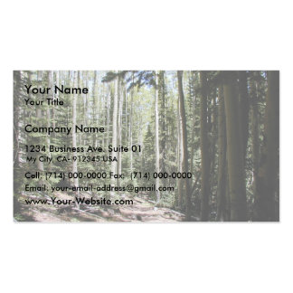 An Aspen - Fir Dominated Forest Just North And Dow Double-Sided Standard Business Cards (Pack Of 100)