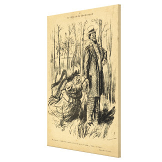 An Assault on Modesty or Mr. Chamberlain's Canvas Print