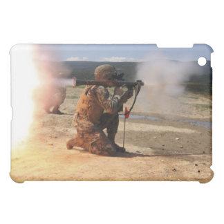 An assaultman fires a Rocket Propelled Grenade iPad Mini Covers