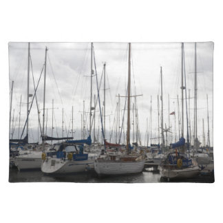 An Assortment of Yachts Cloth Placemat