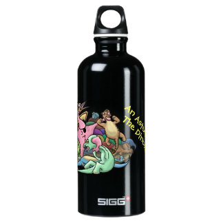 """An Asteroid Killed the Dinosaurs"" Aluminum Water Bottle"