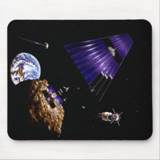 An asteroid mining mission mouse pad