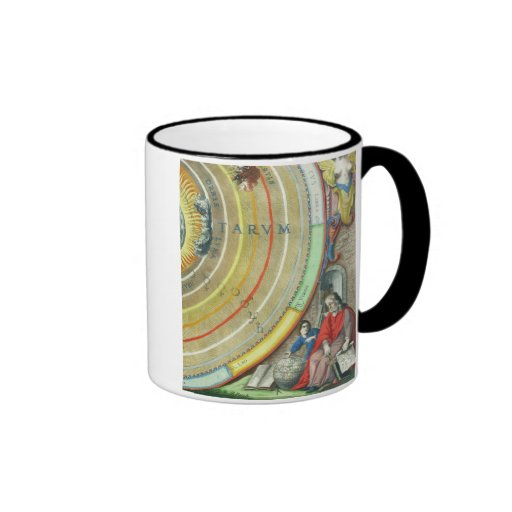 An Astronomer, detail from a map of the planets, f Ringer Coffee Mug