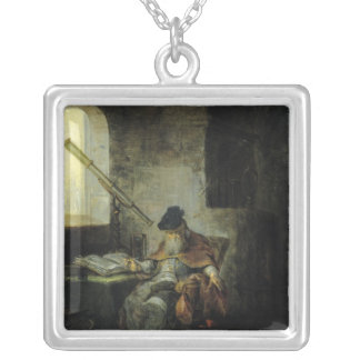 An Astronomer Square Pendant Necklace