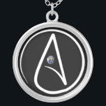 """An Atheist necklace with a globe in the middle.<br><div class=""""desc"""">This is the perfect way to show off your beliefs without going over the top.</div>"""