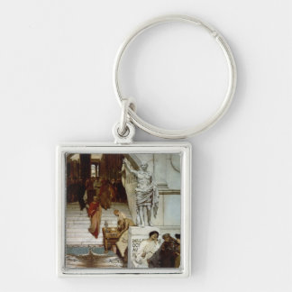 An Audience at Agrippa's, 1875 (oil on canvas) Keychain