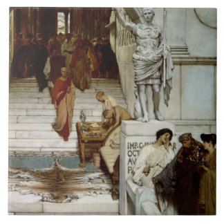 An Audience at Agrippa's, 1875 (oil on canvas) Tile