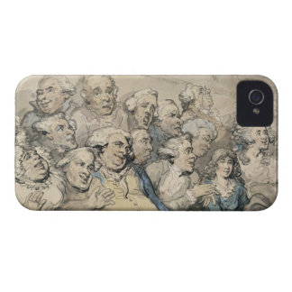 An Audience at Drury Lane Theatre (pen & ink and w iPhone 4 Case-Mate Case
