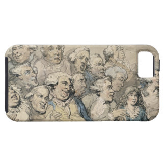 An Audience at Drury Lane Theatre (pen & ink and w iPhone SE/5/5s Case