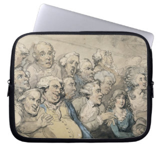 An Audience at Drury Lane Theatre (pen & ink and w Laptop Sleeve