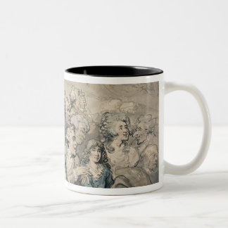 An Audience at Drury Lane Theatre (pen & ink and w Two-Tone Coffee Mug