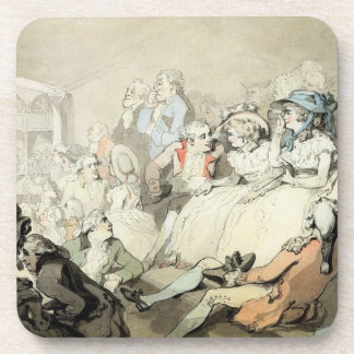 An Audience Watching a Play, c.1785 (pen and ink a Coaster