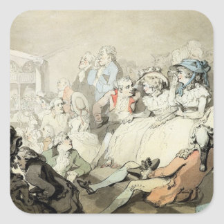 An Audience Watching a Play, c.1785 (pen and ink a Square Sticker