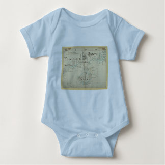 An Authentic 1690 Pirate Map Baby Bodysuit